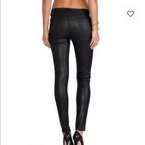 J Brand Jeans - J brand mid rise jegging in coated black